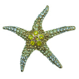 Blue Green Starfish Brooch Pin