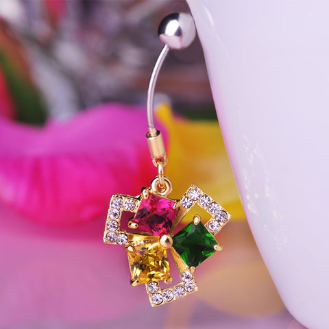 Fashion Squares Piercing (Belly Button Ring)