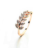 Leaf Crystal Ring