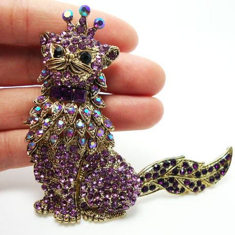 Cat King Brooch Pin