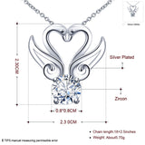 Double Swan CZ Diamond Necklace