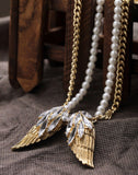 Angle Wings Feather Pendant Necklace