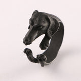 Realistic Dachshund Dog Ring (Knuckle Wrap Ring)