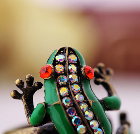 Green Frog Ring