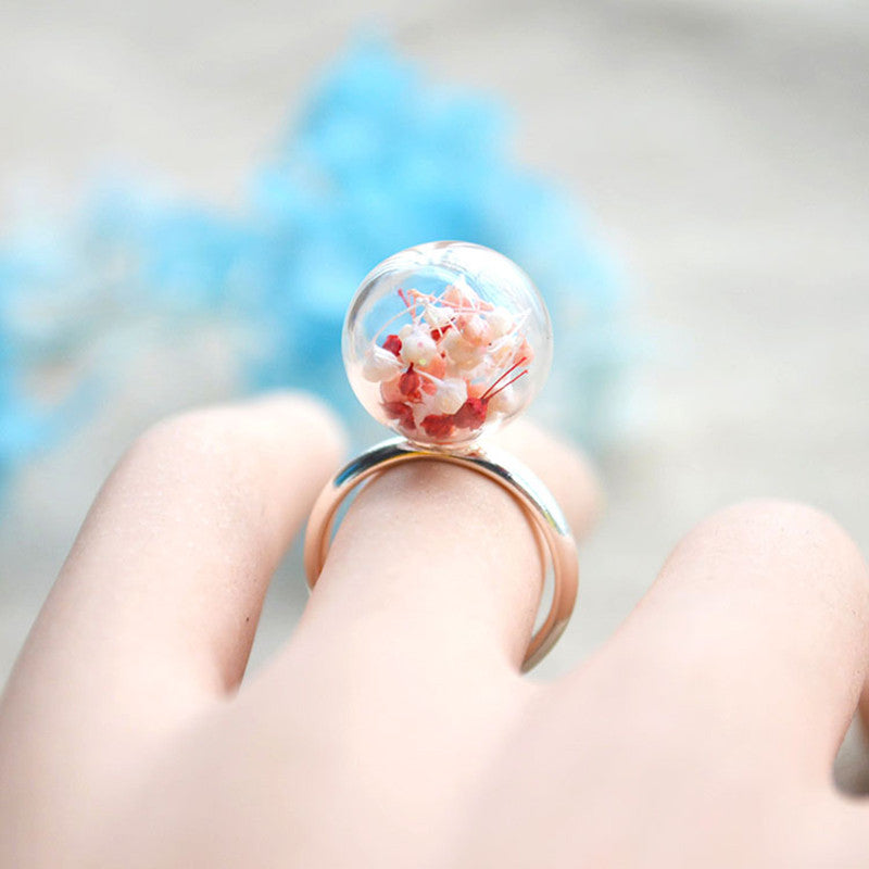 Baby's-breath Real Flower Ring