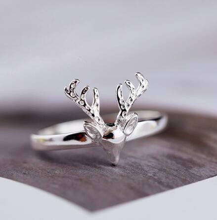 Deer Antlers Ring in 925 Sterling Silver