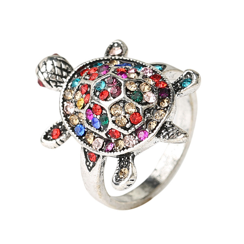 tortoise ring in silver bold and honest