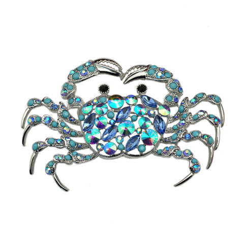 Blue Crab Brooch Pin