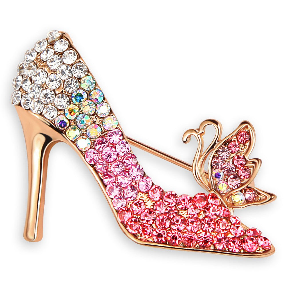 High-heeled Shoe Brooch Pin