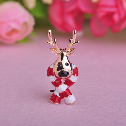 Christmas Deer Brooch Pin