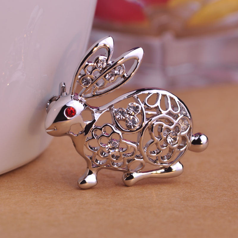 Rabbit Brooch Pin