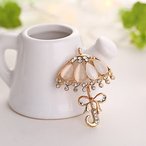 Umbrella Bow Brooch Pin