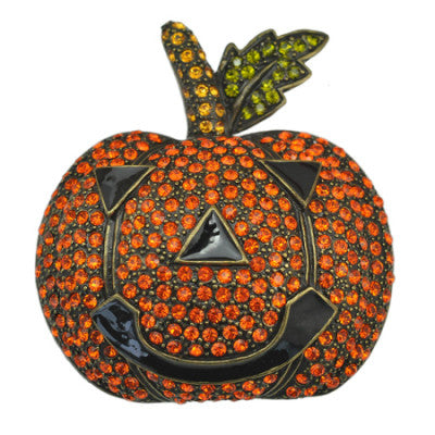 Pumpkin Halloween Brooch Pin