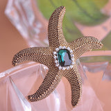 Starfish Brooch Pin For Women