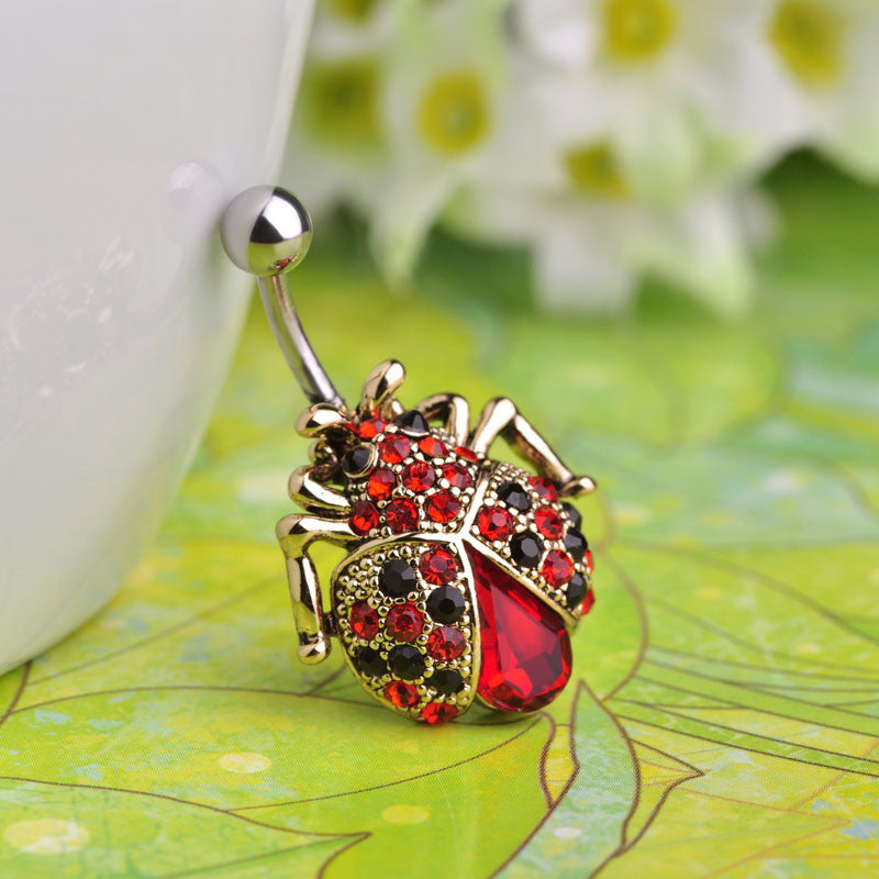 Insects Beetle Belly Button Rings Piercing