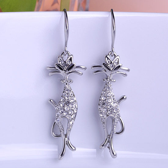 Delicate Cat Earrings