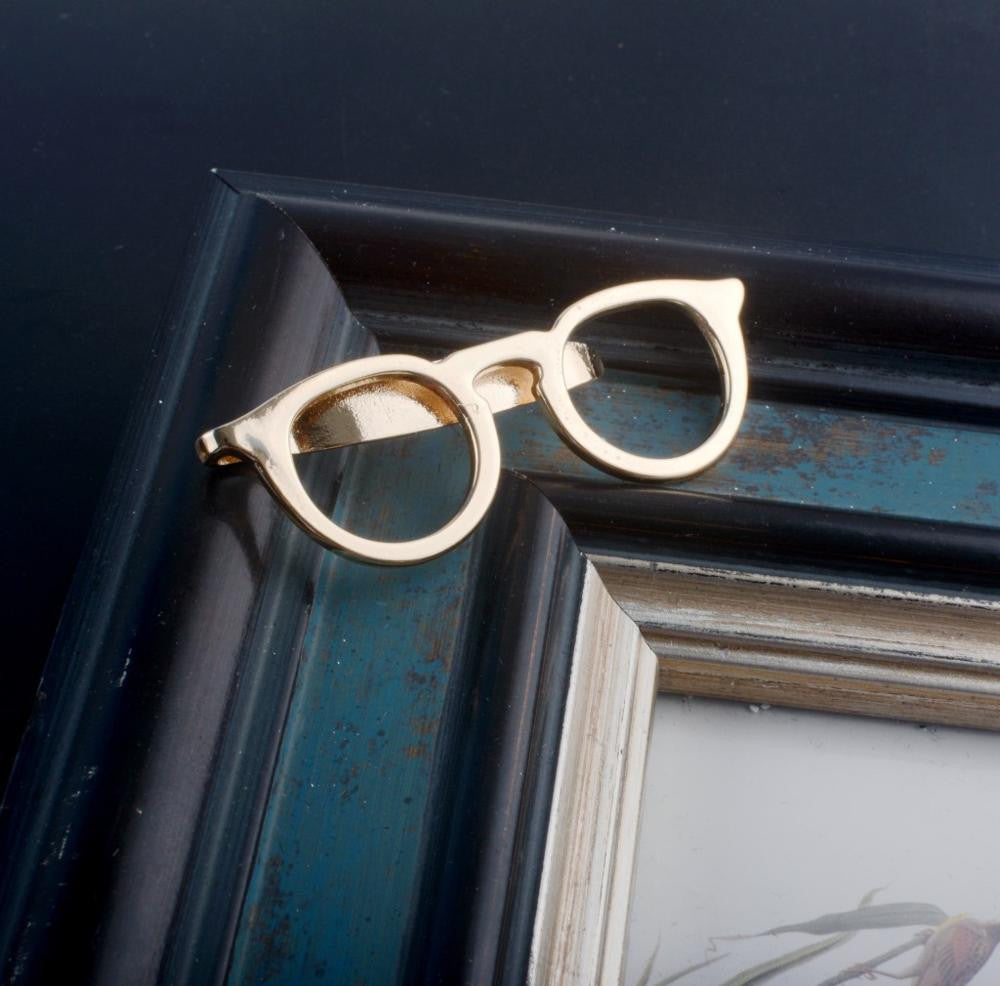 Glasses Tie Clip (Tie Bar)