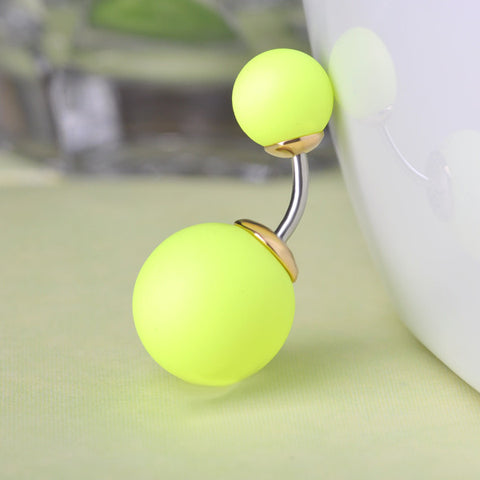 Neon EDM Ball Belly Button Ring Piercing (Trance)