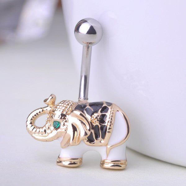 Elephant Belly Button Rings Piercing