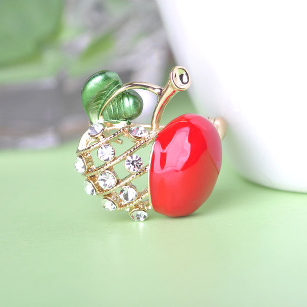 Little Apple Brooch Pin