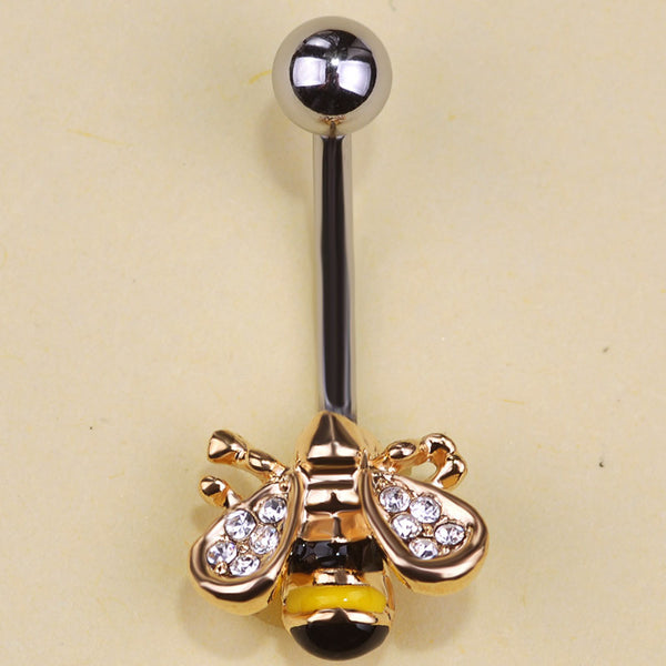 Bee Piercing Belly Button Ring Bold And Honest