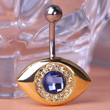 Blue Eye Crystal Piercing (Belly Button Ring)