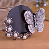 Butterfly Brooch Pearl Pin