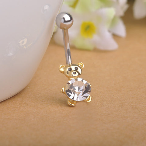 Bear Teddy Piercing (Belly Button Ring)