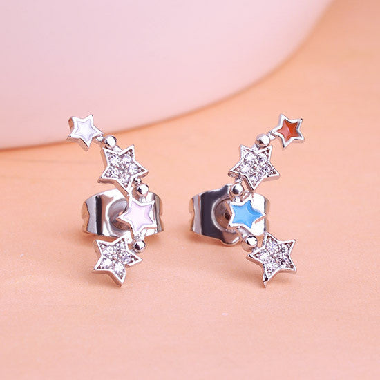 Steampunk Stars Earrings