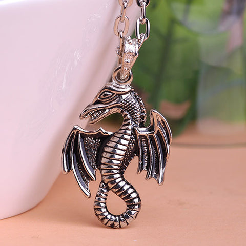 Gothic Dragon Necklace Pendant