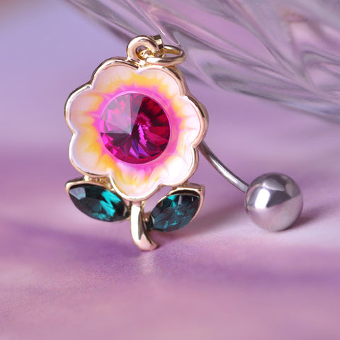 Flower Piercing (Belly Button Ring)