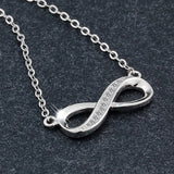 8-Shaped Infinity Necklace (925 Sterling Silver)