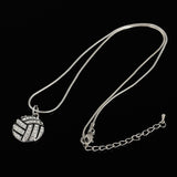 I Love Volleyball Heart Shape Pendant Necklace