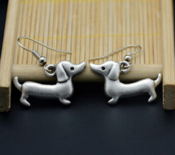 Dachshund Charm Drop Earrings