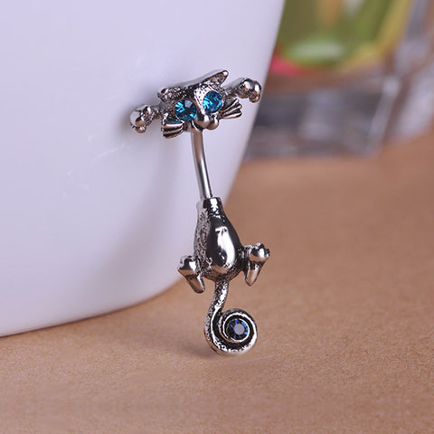 Cat Navel Ring Belly Button Piercing