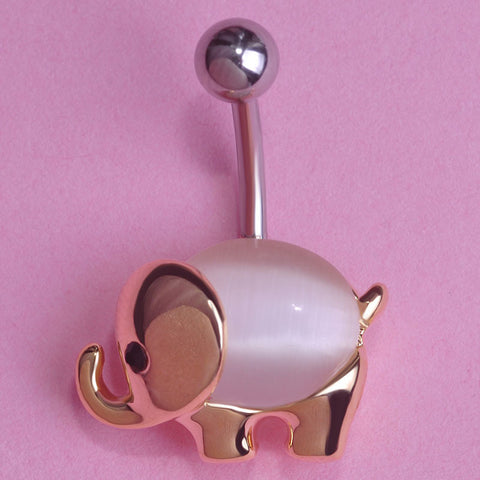Elephant Belly Button Ring Piercing
