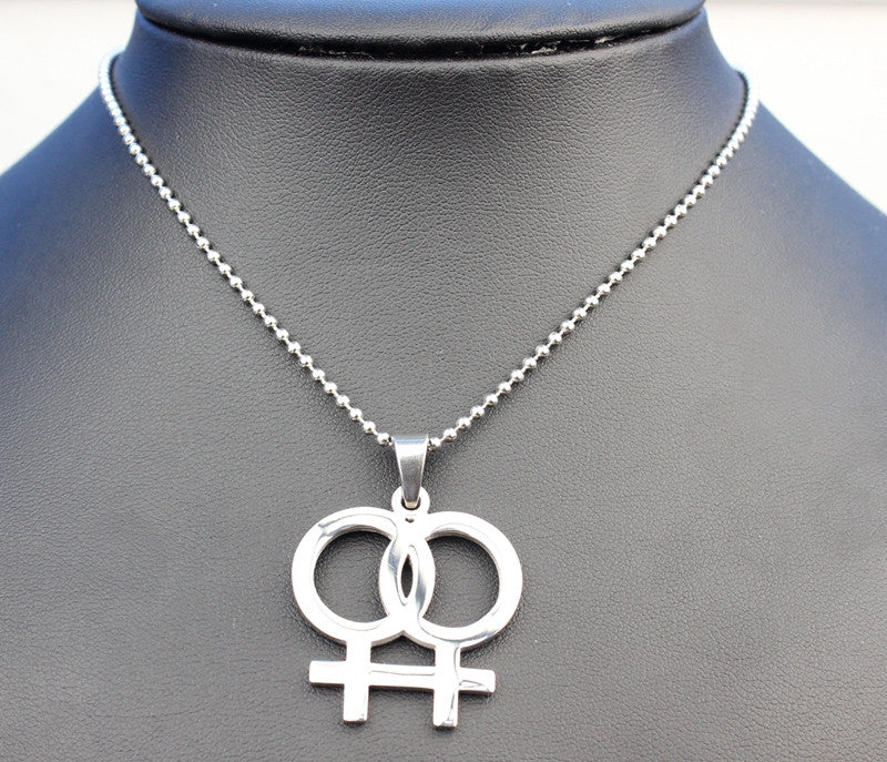 485252f4fe2 Lesbian Necklaces (Stainless Steel Gay Pride)