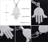 The Hand of Fatima Necklace (18K Gold/Silver Plated Stainless Steel)