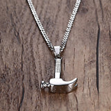 Punk Hammer Shaped Necklace in Stainless Steel