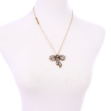 Crystal Bowknot Pendant Necklace