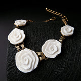 White Flowers Choker Necklace