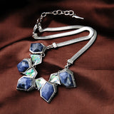 Snake Chain Blue Stone Necklace