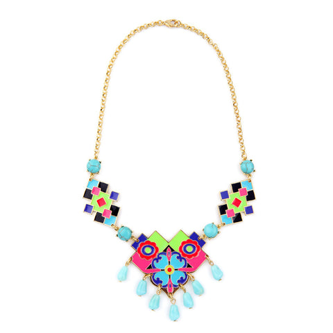 Neon Color Flowers Necklace
