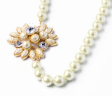 Pearl Flowers Pendant Necklace (Simulated Pearl)
