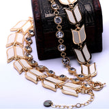 Crystal Collar Arrow Necklace