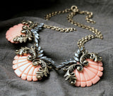 Shell Pendant Statement Necklace