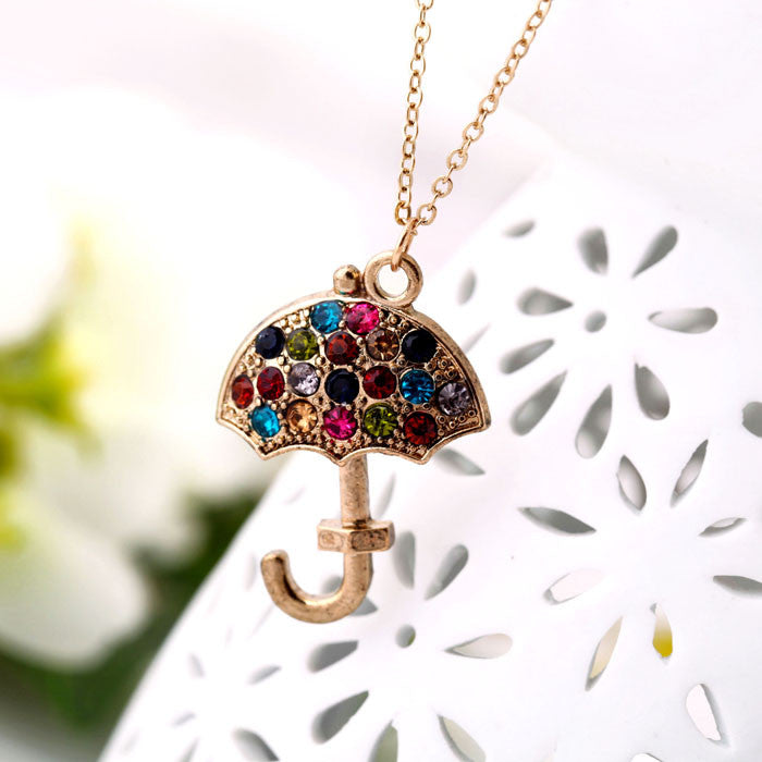 Colorful Umbrella Necklace