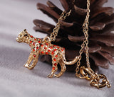 Leopard Necklace in Red