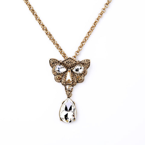 Leopard Head Crystal Necklace