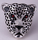 Leopard Stretch Ring (gold & silver plated)